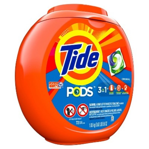 Tide PODS Laundry Detergent, Original, 72 count, Designed for Regular and HE Washers