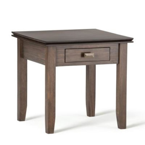 Simpli Home Artisan Natural Aged Brown Storage End Table