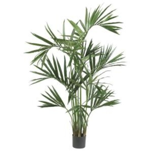 Nearly Natural 6 ft. Green Kentia Palm Silk Tree