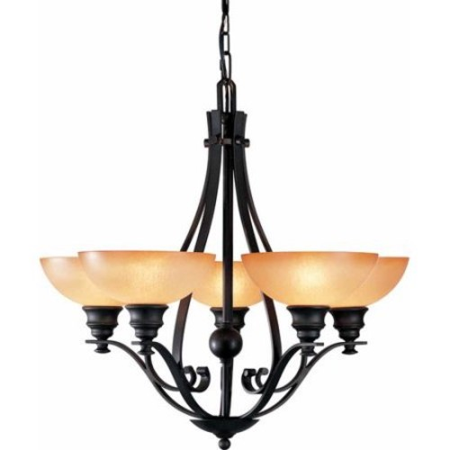 Volume Lighting Rainier 3-Light Shaded Chandelier