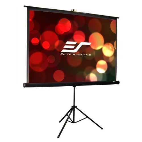 Elite Screens Tripod Pro Series, 113-INCH 1:1, Adjustable Multi Aspect Ratio Portable Indoor Outdoor Projector Screen, 8K/4K Ultra HD 3D Ready, 2-YEAR WARRANTY, T113UWS1-Pro [Tripod Pro Series]