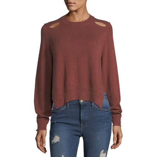ETOILE ISABEL MARANT Kelia Crewneck Distressed Cotton-Wool Sweater