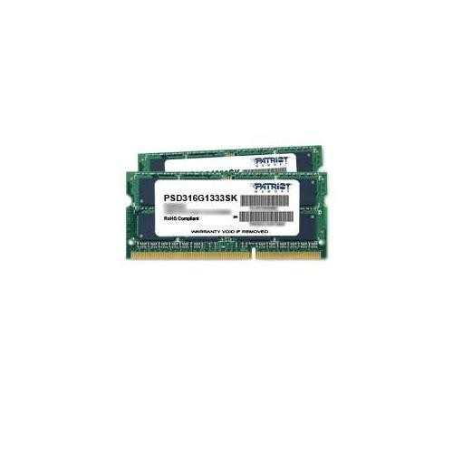 Patriot Signature DDR3 16GB 1333MHz SODIMM Kit (PC3 10600) PSD316G1333SK
