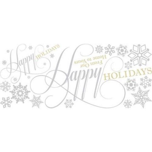 RoomMates Happy Holidays Quote Peel and Stick Giant Wall Decals w/Glitter