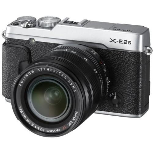 Fujifilm - X-Series X-E2S Mirrorless Camera with XF 18-55mm Lens - Silver