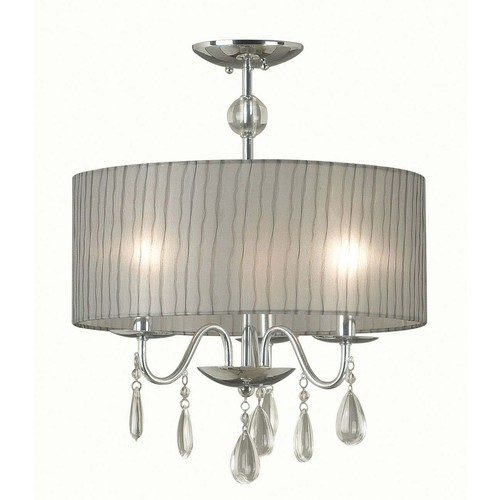 Kenroy Home 91733CH - Arpeggio 3 Light Pendant Chrome Finish