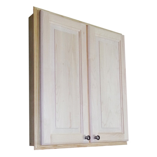 WG Wood Products Barcelona 30-inch Recessed Double Door Medicine Storage Cabinet