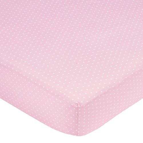 Sweet JoJo Designs Pink Mini Dot Fitted Crib Sheet