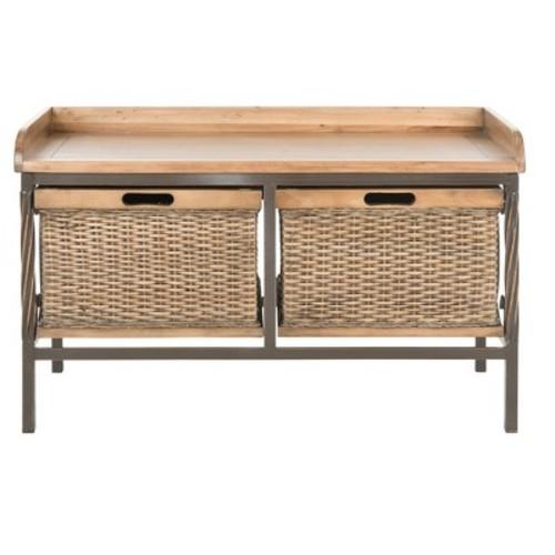 Noah Storage Bench - Safavieh