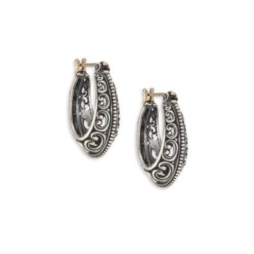 Penelope Sterling Silver Filigree Hoop Earrings/1