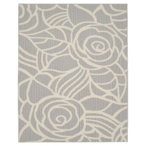 Garland Rug Rhapsody Silver/Ivory 8 ft. x 10 ft. Area Rug