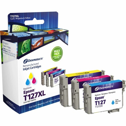Dataproducts DPCT127CMY Remanufactured Inkjet Cartridge for Epson T127 - CMY Color Ink 3-Pack