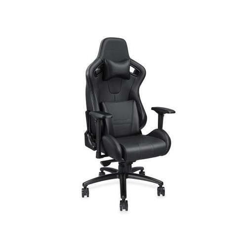 Anda Seat Dark Series Premium Gaming Chair, Large Size Big and Tall, High-Back Desk and Recliner Swivel Office Chair 400LB With Lumbar Support and Headrest (Black) AD12XL-DARK-B-PV