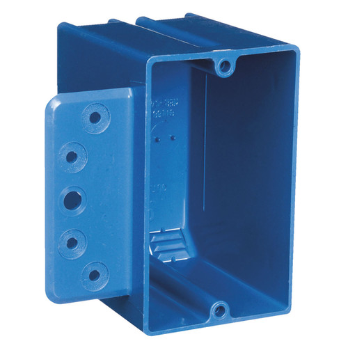 Carlon Lamson and Sessons Light Switches & Electrical Outlets Carlon 3-3/4 in. H Rectangle 1 Gang Switch Box Blue PVC