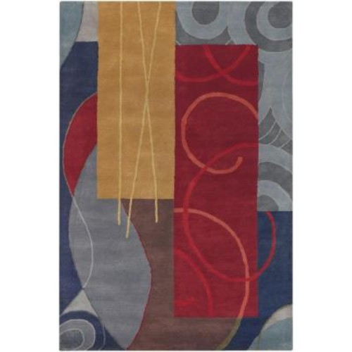 Chandra Bense Blue/Red/Gold/Grey/Brown 7 ft. 9 in. x 10 ft. 6 in. Indoor Area Rug