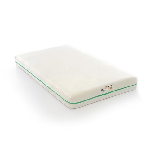 My First Flip White Foam Infant and Toddler Mattress with Removable Cover