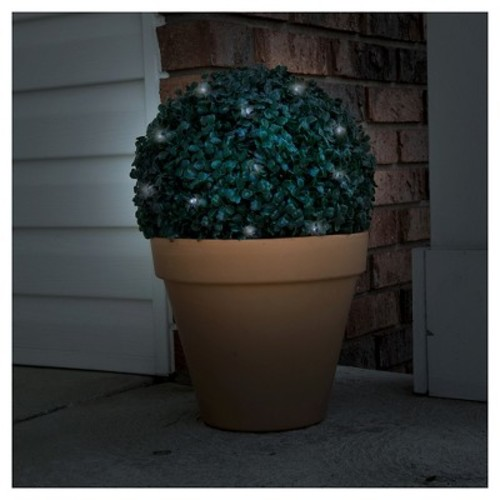 Pure Garden Topiary Solar Light Ball - 20 White LED Lights