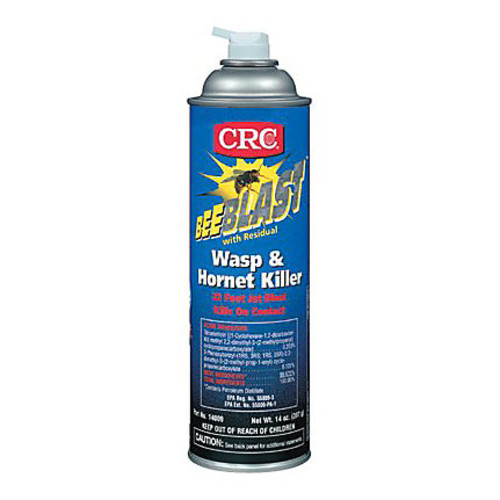 CRC Bee Blast Wasp And Hornet Spray, 20 Oz Aerosol Can, Pack Of 12 Cans