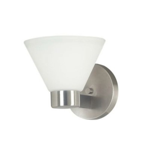 Kenroy Home Maxwell 1-Light Bath Wall Sconce in Brushed Steel