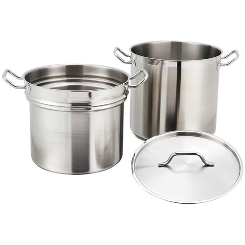 Winco 8-quart Stainless Steel Double Boiler