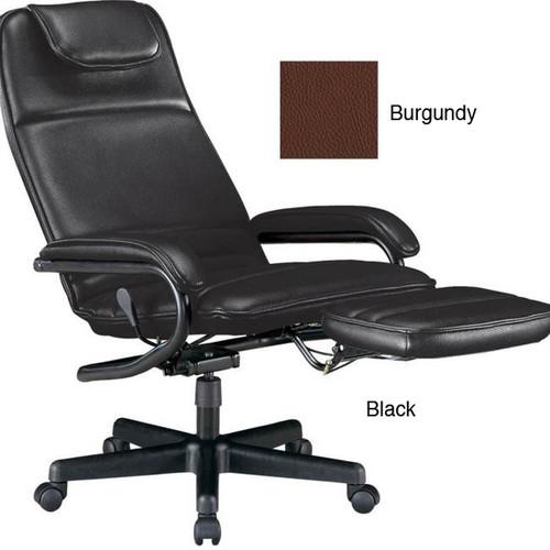 OFM 680 Black Executive Recliner [option : Black - Black Finish]