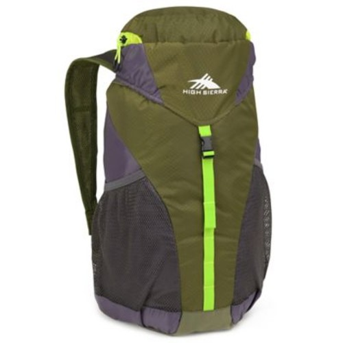 High Sierra Pack-N-Go 20-Liter Packable Backpack in Olive/Grey