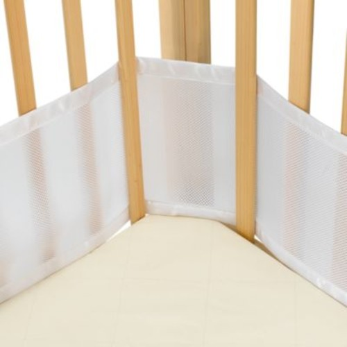 BreathableBaby: Mesh Crib Liner for Portable Cribs and Cradles in White