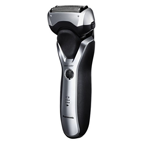 Panasonic ES-RT47-S Arc3 Electric Razor, Men's 3-Blade Cordless, Comb Trimming Attachment Included, Wet Dry Operation [Slide-Up Detail Trimmer and Comb Attachment for Beard/Hair Trimming]