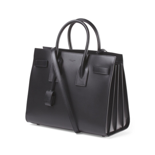 SAINT LAURENT Made In Italy Leather Small Sac De Jour Bag