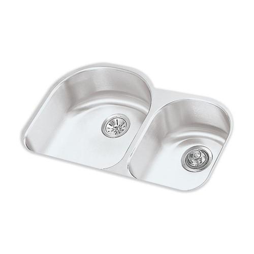 Elkay Lustertone Undermount Stainless Steel 31 in. Double Bowl Kitchen Sink