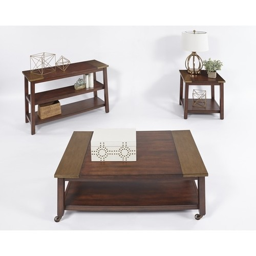 Progressive Sydney Brown Wood Castered Cocktail Table