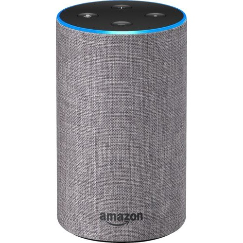 Amazon - Echo (2nd generation) - Heather Gray Fabric