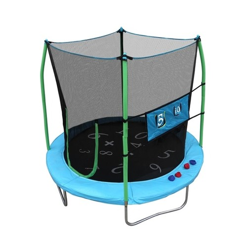Skywalker Trampolines 7.5' Round Trampoline with Enclosure and Double Toss Game