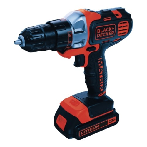 Black+Decker MATRIX 20 volts 3/8 in. Keyless Cordless Drill/Driver Kit(BDCDMT120C)