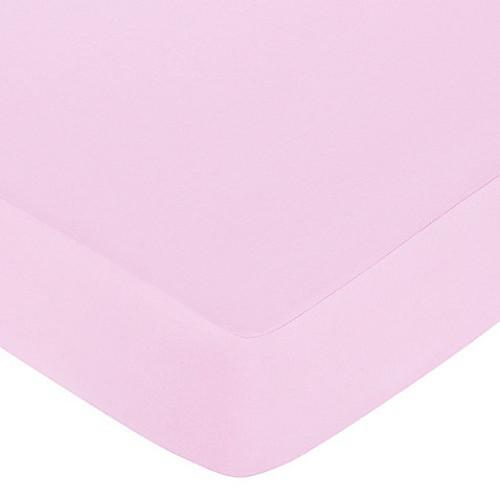 Sweet Jojo Designs Butterfly Fitted Crib Sheet in Pink