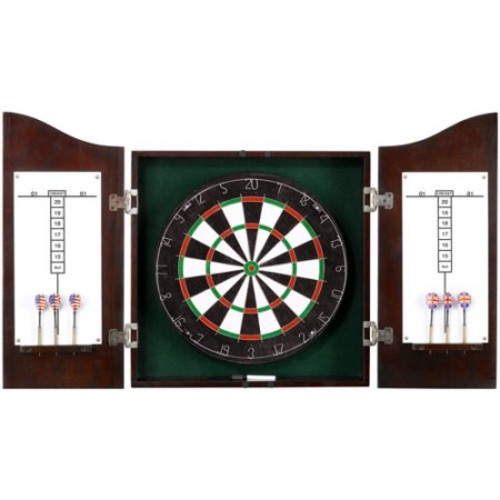 Centerpoint Solid Wood Dartboard & Cabinet Set