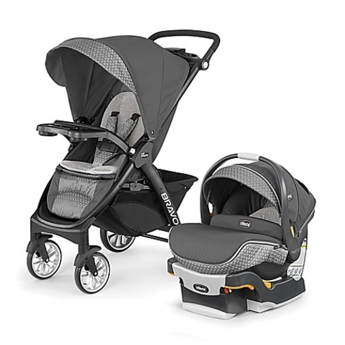 Chicco Bravo LE Trio Travel System in Silhouette