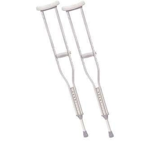 Drive Medical Tall Adult Walking Crutches with Underarm Pad and Handgrip, Gray [Tall Adult]