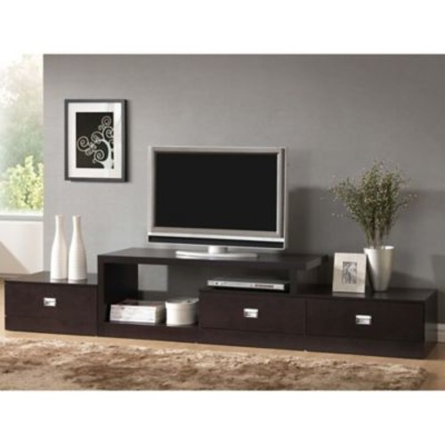 Baxton Studio Marconi TV Media Stand in Light Brown