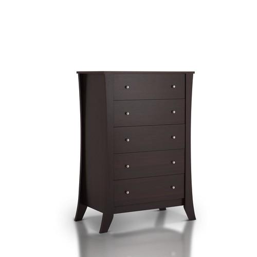 Furniture of America Floren 5-Drawer Espresso Dresser