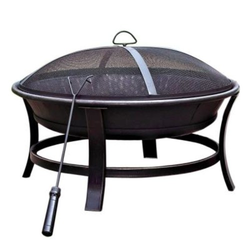 Jeco 30 in. Golden Brush Windsor Steel Fire Pit