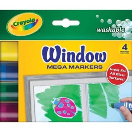 Crayola Washable Window Mega Markers4/Pkg