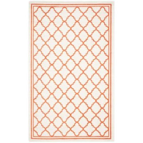 Safavieh Amherst Beige/Orange 4 ft. x 6 ft. Indoor/Outdoor Area Rug