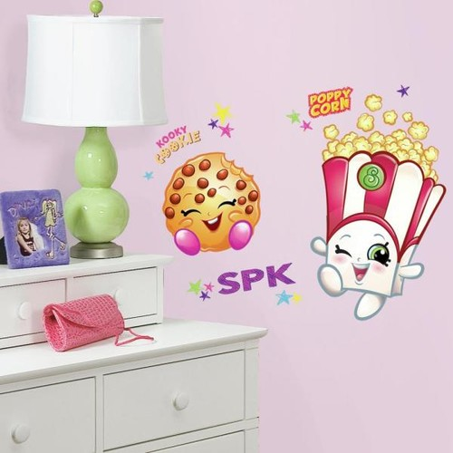 RoomMates 5 in. x 19 in. Poppy Corn and Kooky Cookie Shopkins 15-Piece Peel and Stick Giant Wall Decals