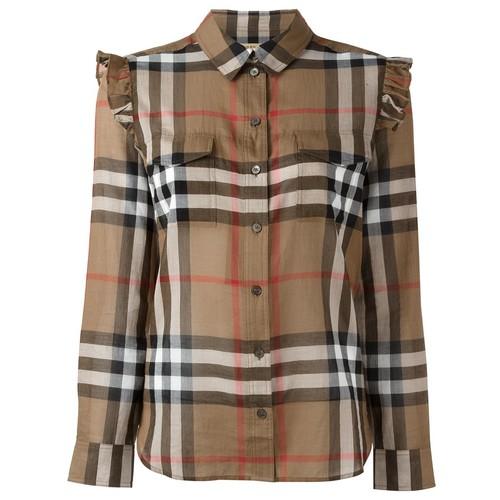 BURBERRY Ruffle Trim Shirt