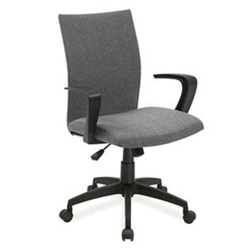 Leick Furniture Leick Linen Apostrophe Office Chair With Black Caster Base Grey