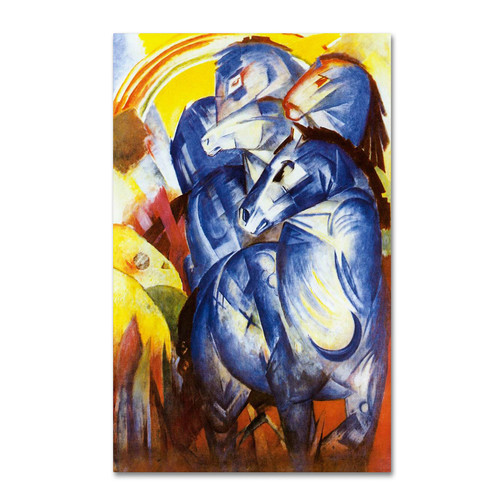 Trademark Global Franz Marc 'A Tower of Blue Horses' Canvas Art [Overall Dimensions : 22x32]