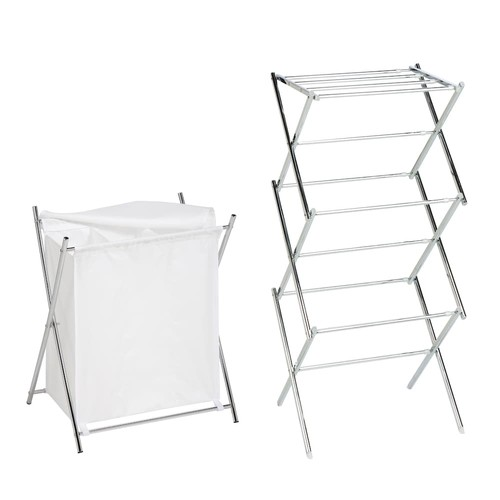 Honey-Can-Do Laundry Hamper & Clothes Drying Rack Set