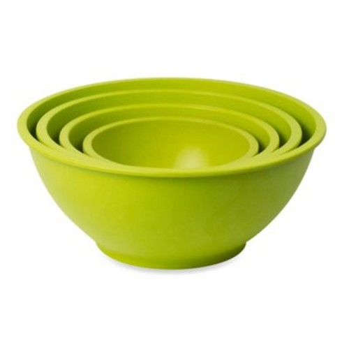 Architec Homegrown Gourmet 4-Piece Harvest Mixing Bowl Set in Green