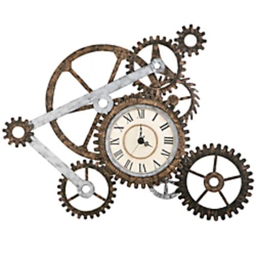 Southern Enterprises Metal Art Wall Gear Clock